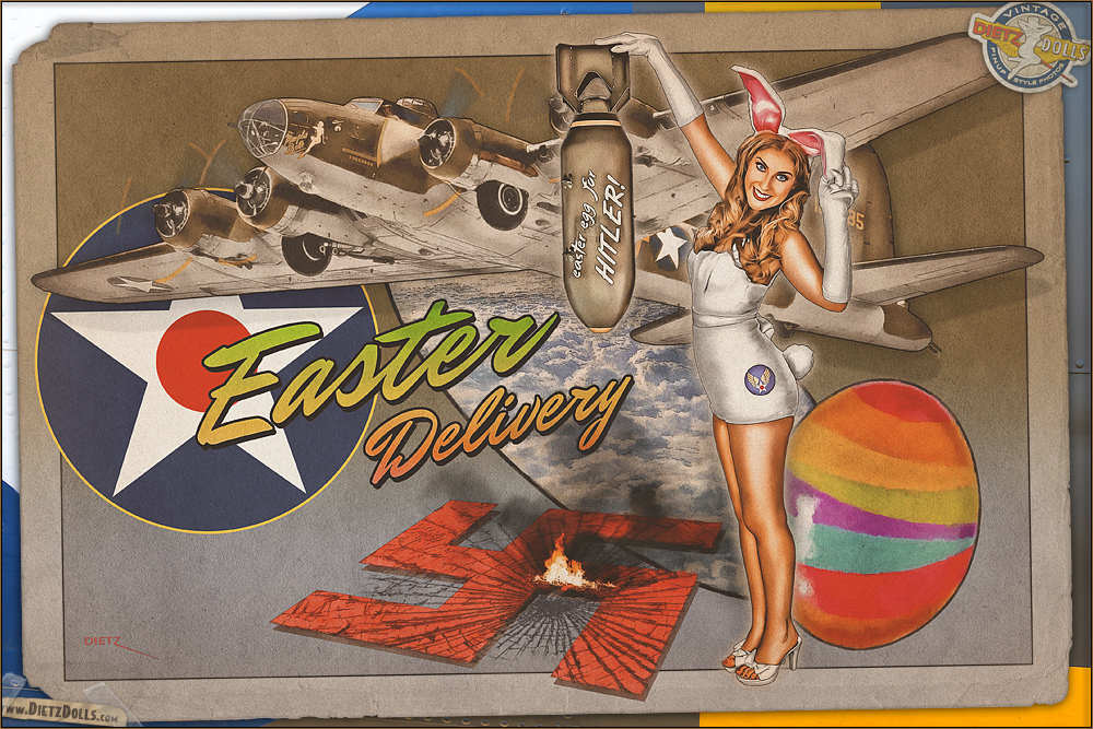 Nose Art - 'Easter Delivery' by warbirdphotographer