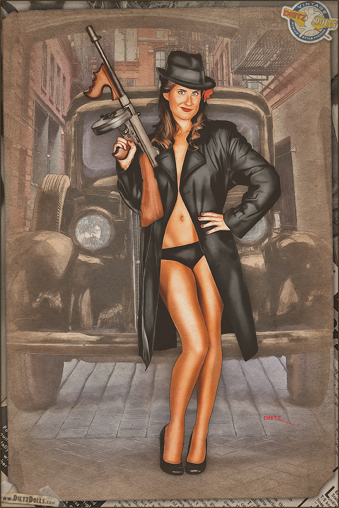 Pinups - Gorgeous Gangster by warbirdphotographer