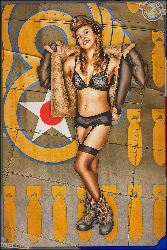Pinups - 8th Air Force Cutie by warbirdphotographer