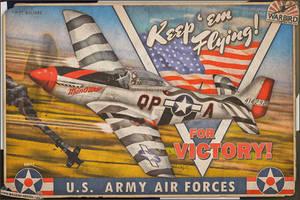 Aviation Art - Keep 'Em Flying - P-51 Mustang by warbirdphotographer