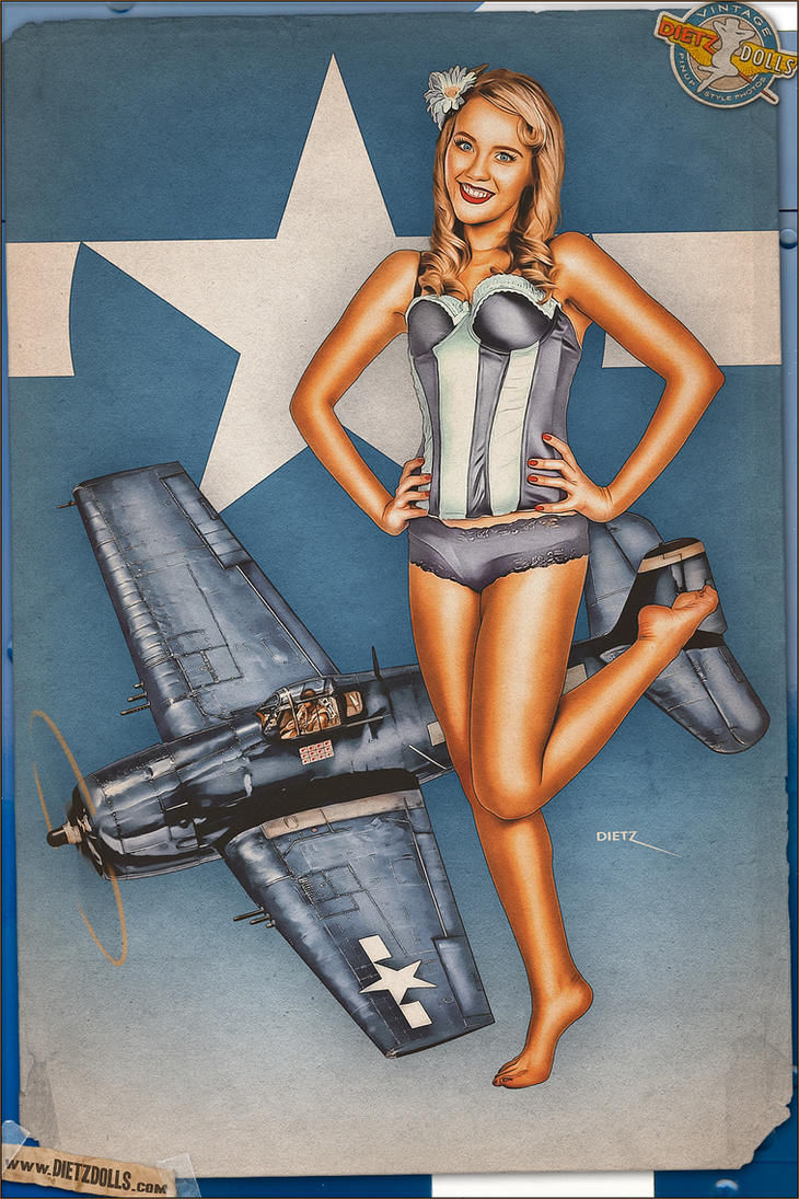 Pinups - Mighty Hellcat by warbirdphotographer