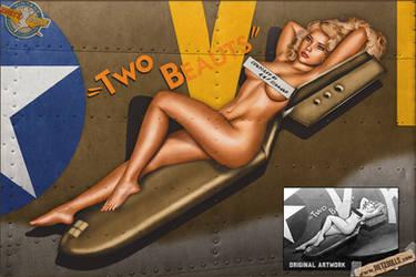 Nose Art Recreations - Two Beauts (B-17F) by warbirdphotographer