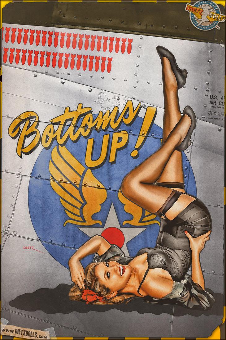 Nose Art - Bottoms Up! by warbirdphotographer