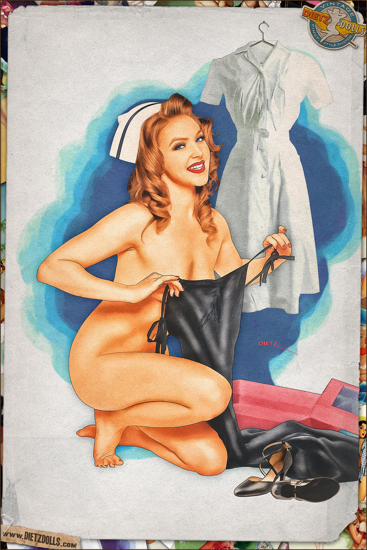 Pinups - Hello Nurse! (Bill Randall Tribute) by warbirdphotographer