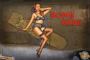 Nose Art - Bomb Babe by warbirdphotographer