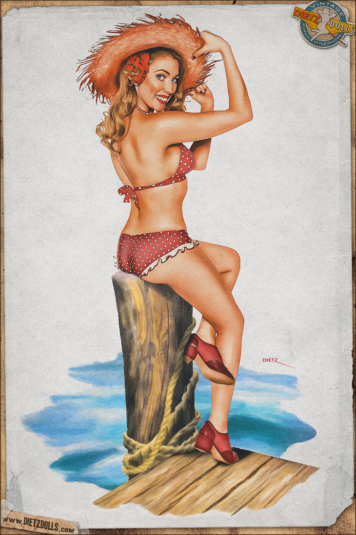 Pinups - Dock of the bay (Ballantyne Tribute) by warbirdphotographer