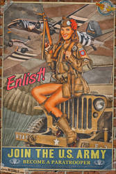 Propaganda Pinups - Join the US Army by warbirdphotographer