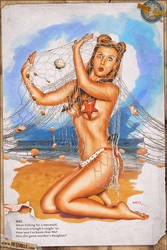 Pinup - Caught on the Beach (Bill Randall Tribute) by warbirdphotographer