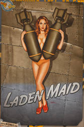 Nose Art Pinups - Laden Maid by warbirdphotographer
