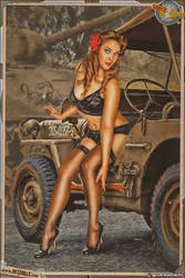 Pinups - I borrowed your Jeep!
