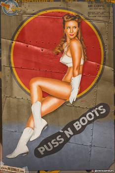 Nose Art Pinups - 'Puss N Boots'