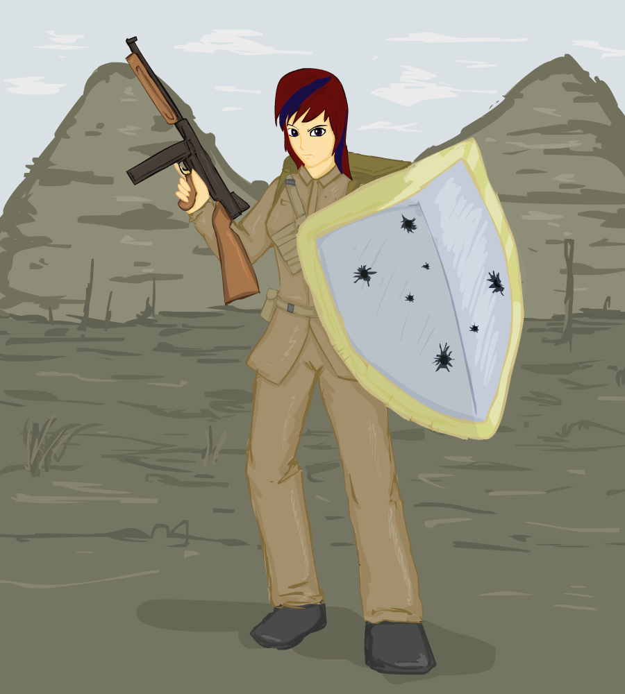 human Aria in WW2 by glue123