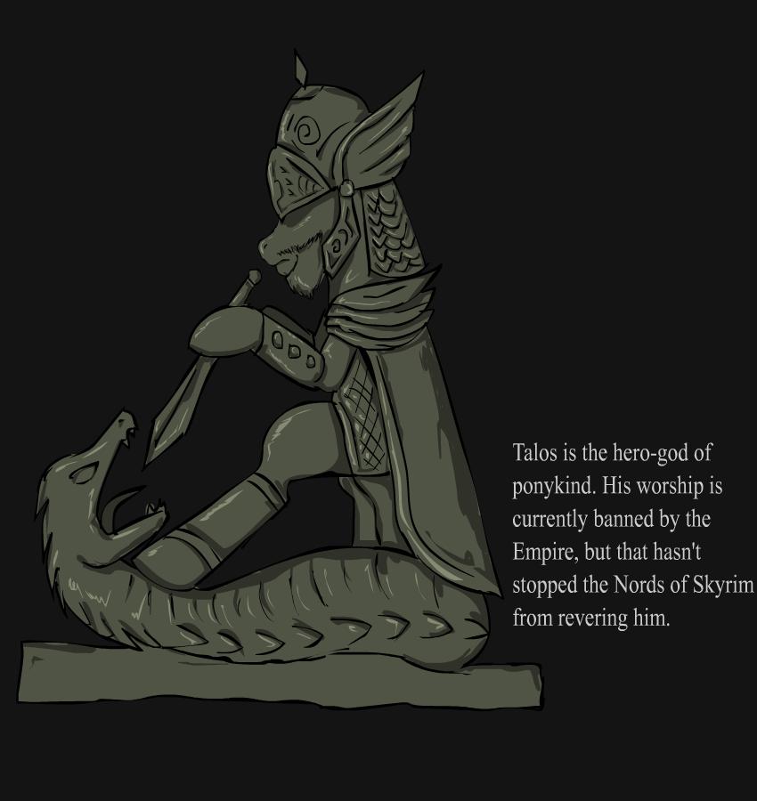 Ponified Skyrim loading screen: Talos by glue123 on DeviantArt