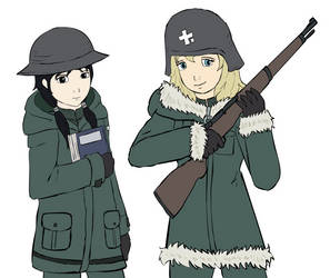 Chito and Yuuri by glue123