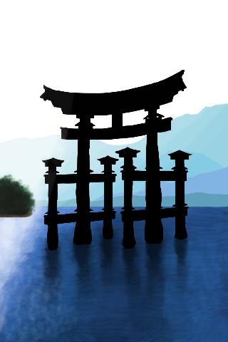 Itsukushima torii by marioferpa