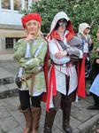 Ezio and Leonardo