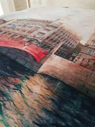 Au Pont Rouge St Peterburg by Takir