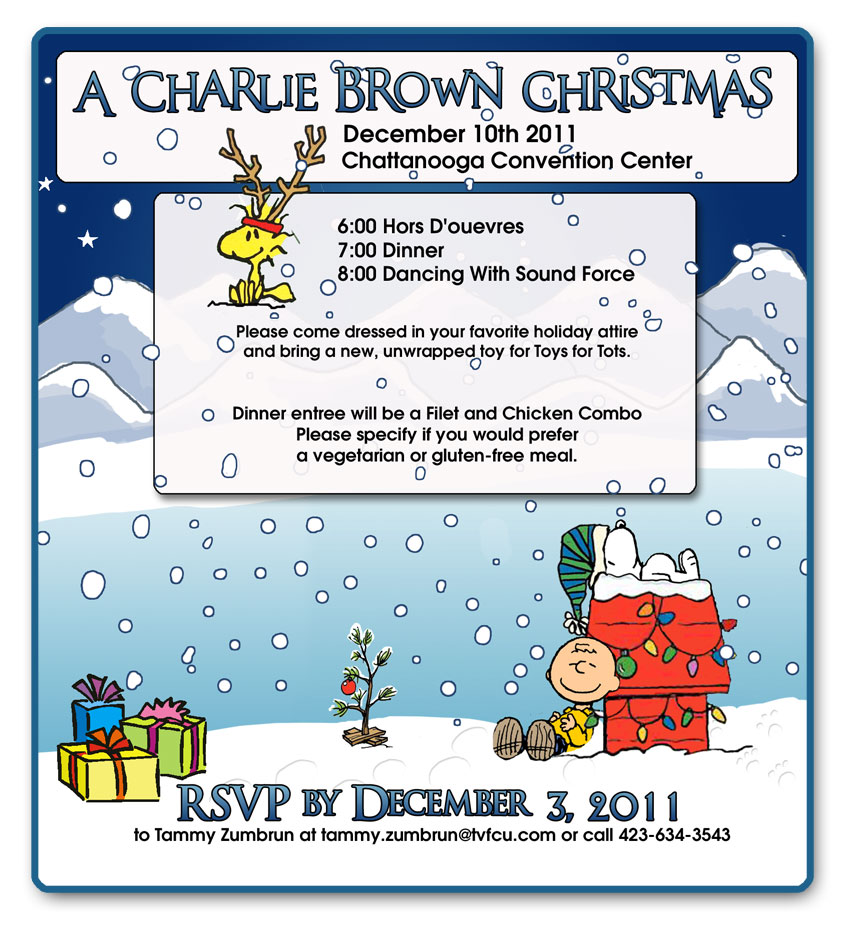 Charlie Brown Christmas Invitation
