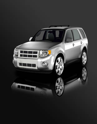 Silver SUV by bassgeisha