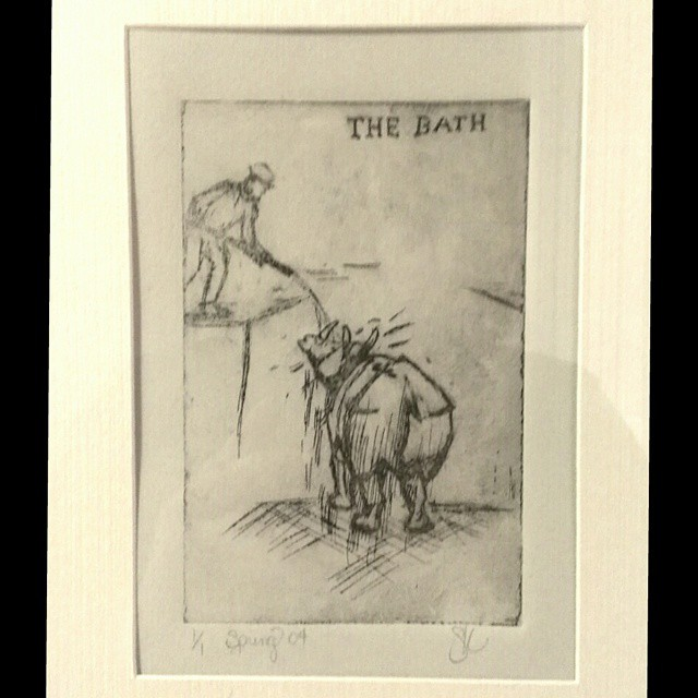 The-Bath-Etching-2004-Printmaking by bassgeisha