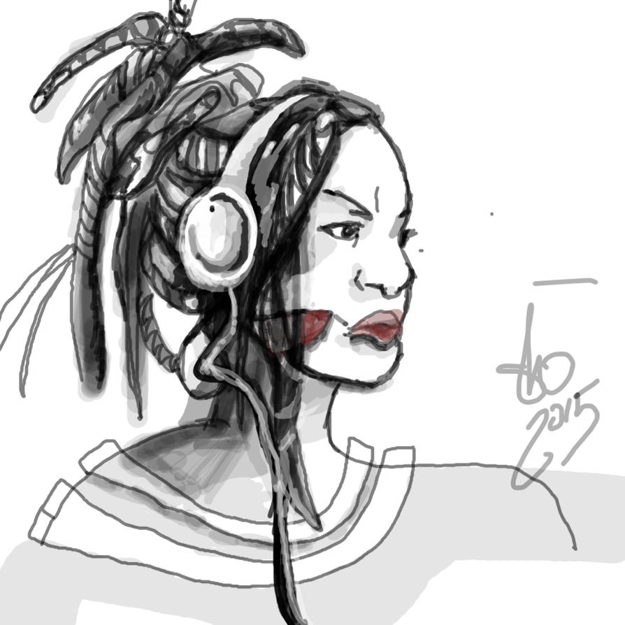 Headphoneamazon by bassgeisha