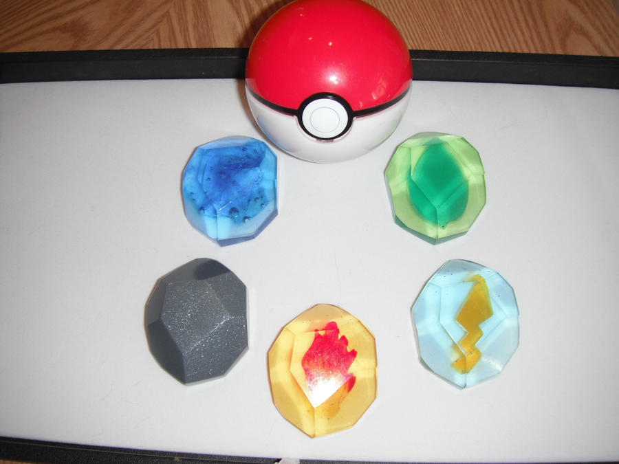 Pokemon Evolution Stones - Generation I (view 3) by ChinookCrafts