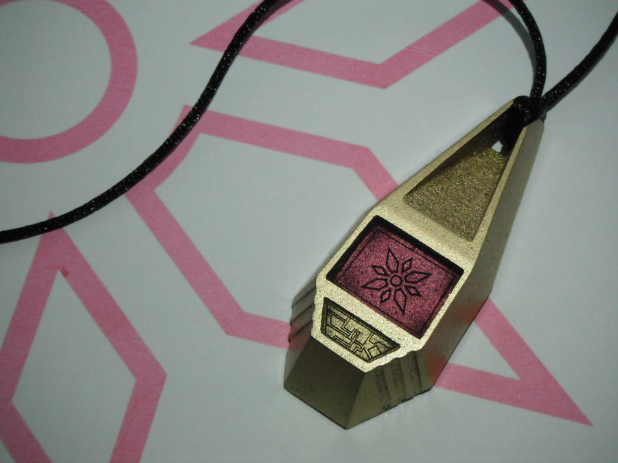 Digimon Tag with Kari's Crest of Light (view 1) by ChinookCrafts