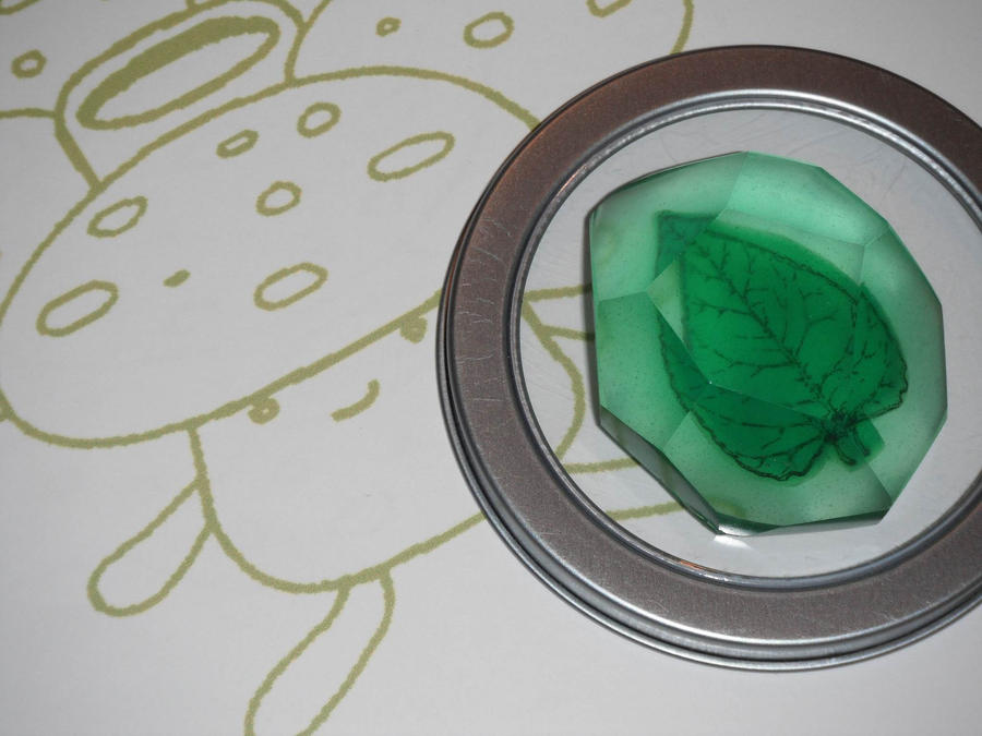 Pokemon Evolution Stone, Leaf Stone by ChinookCrafts