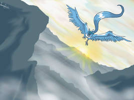Articuno's flight by FoReal100