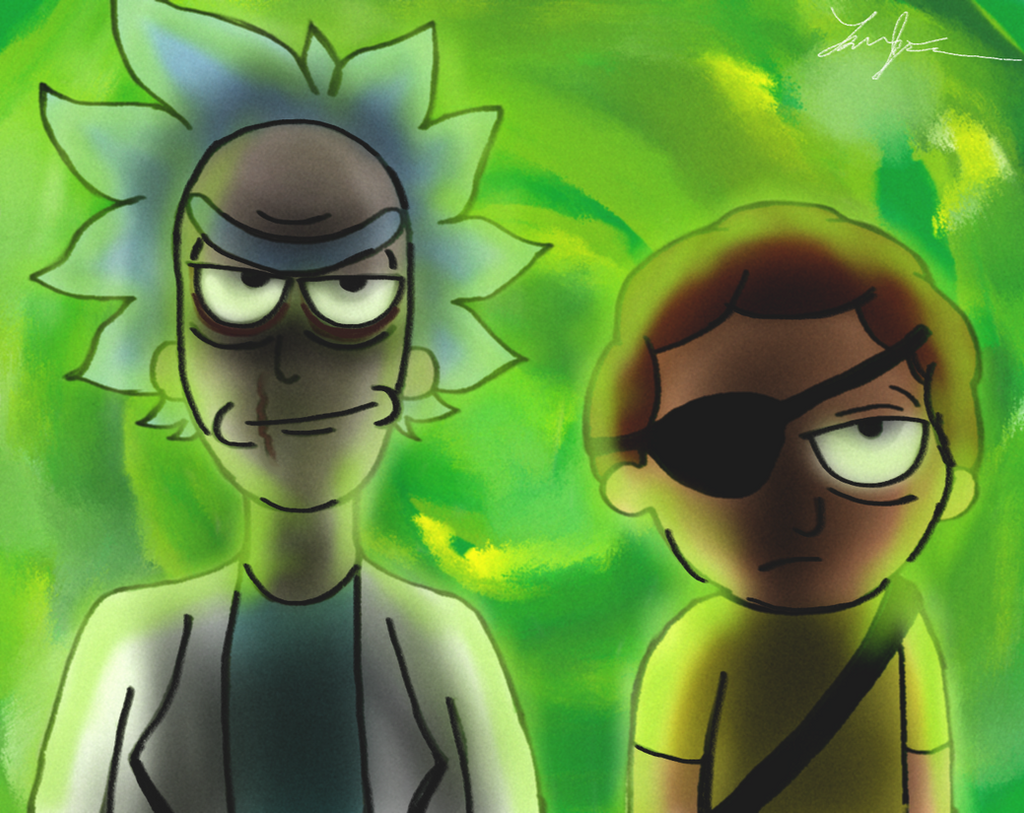 Evil Rick And Morty by FoReal100 on DeviantArt