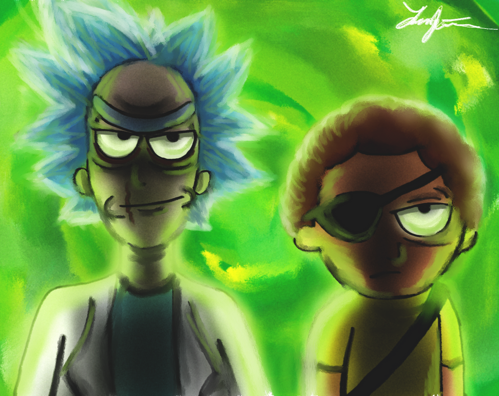 Evil rick and morty ver 2 by foreal100 on deviantart - Evil morty wallpaper 4k ...