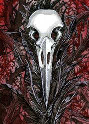 Rabe VI Kakao Karte / Raven VI ACEO Card by gabrieldevue