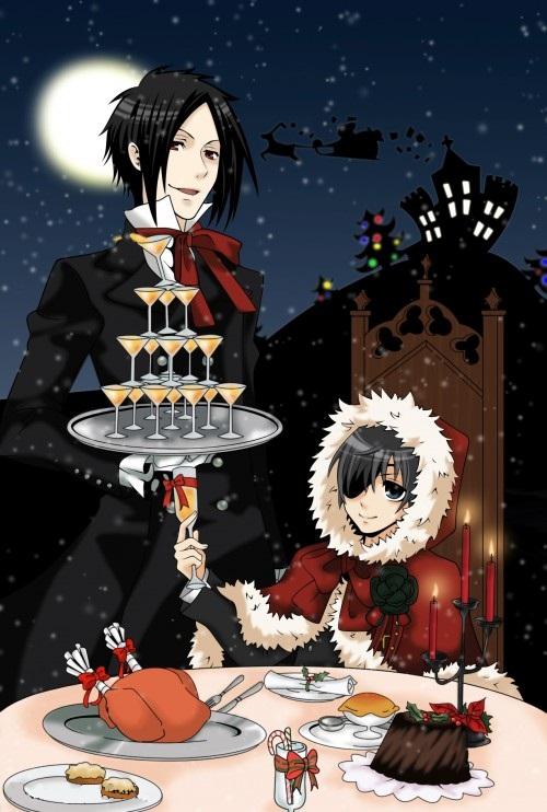 sebastian and ciel christmas by sebastianmichaelis0 - Black Butler Christmas