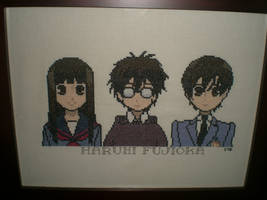 Haruhi Cross-Stitch by kairi-chan16