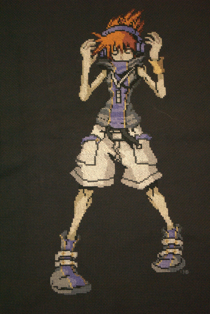 Neku Cross-stitch by kairi-chan16