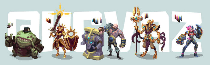 League of Legends - Pixel Art Characters