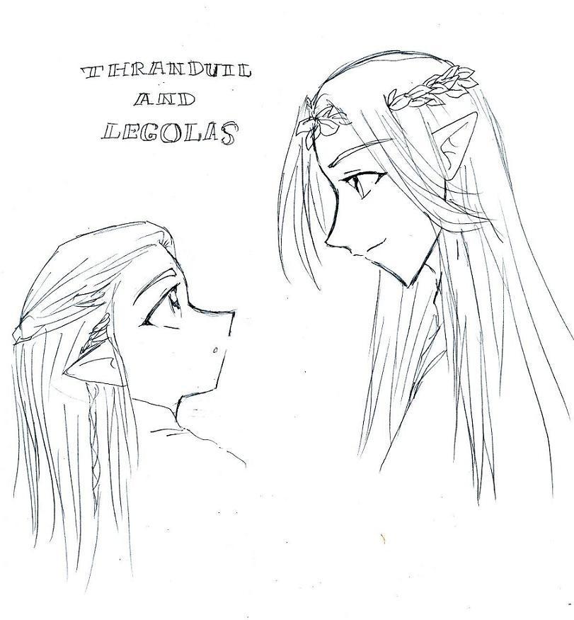 Legolas and Thranduil by fatal-rob0t
