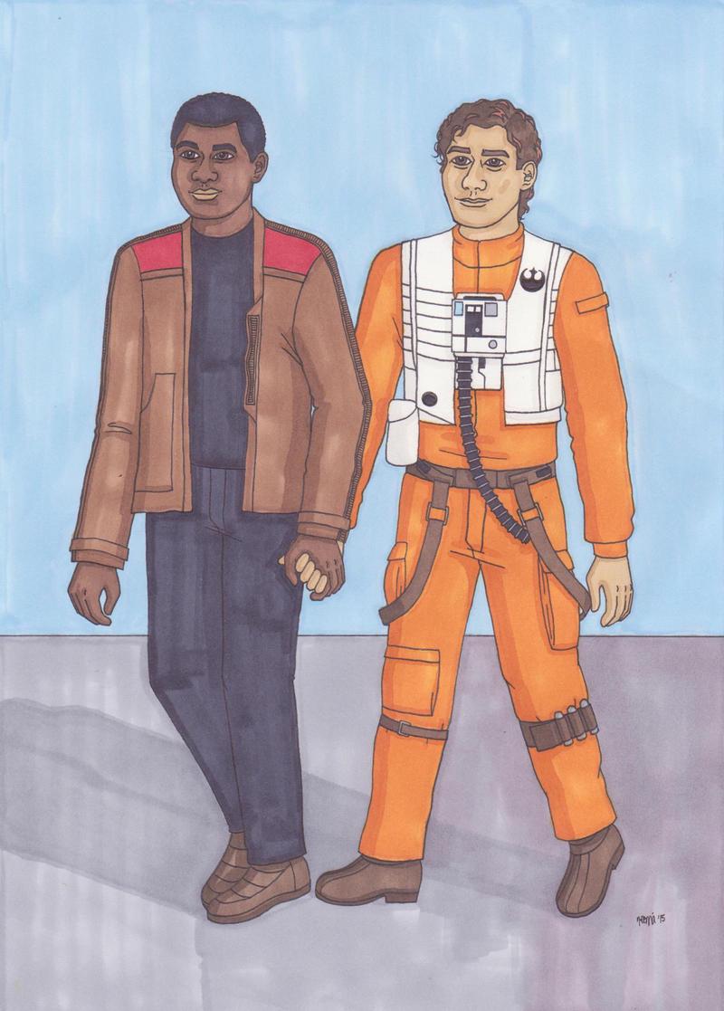 Finn and Poe by ElfceltRJL