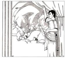 Cerberus, Hades and Persephone
