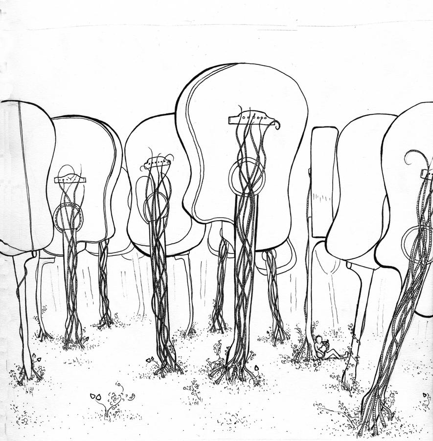Line Art Forest : Acoustic forest line art by jeannai draco on deviantart