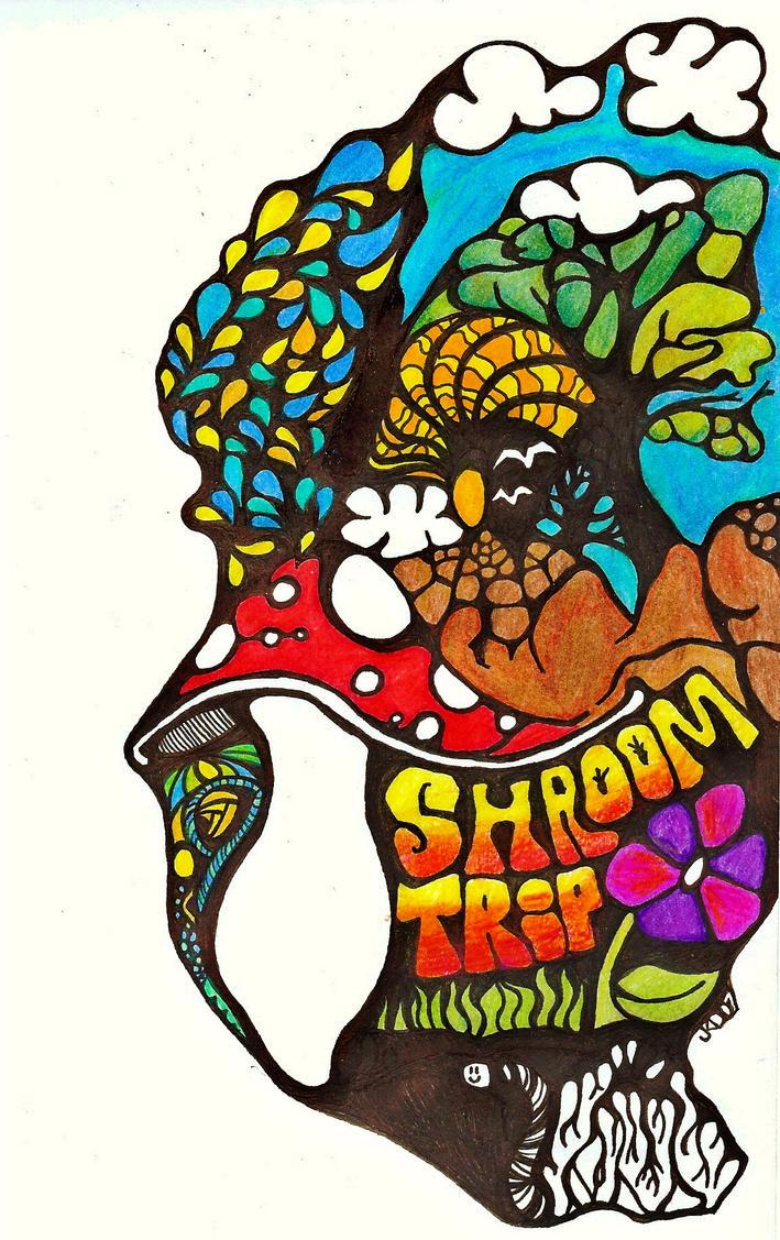 Shroom Trip by conceptualuminosity