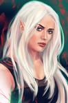 Commission portrait: half-Elf