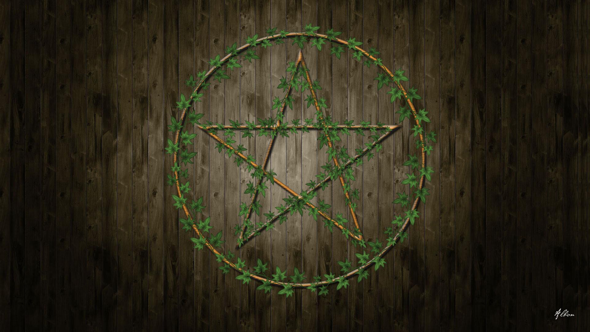 wiccan pentagram wallpaper - photo #1