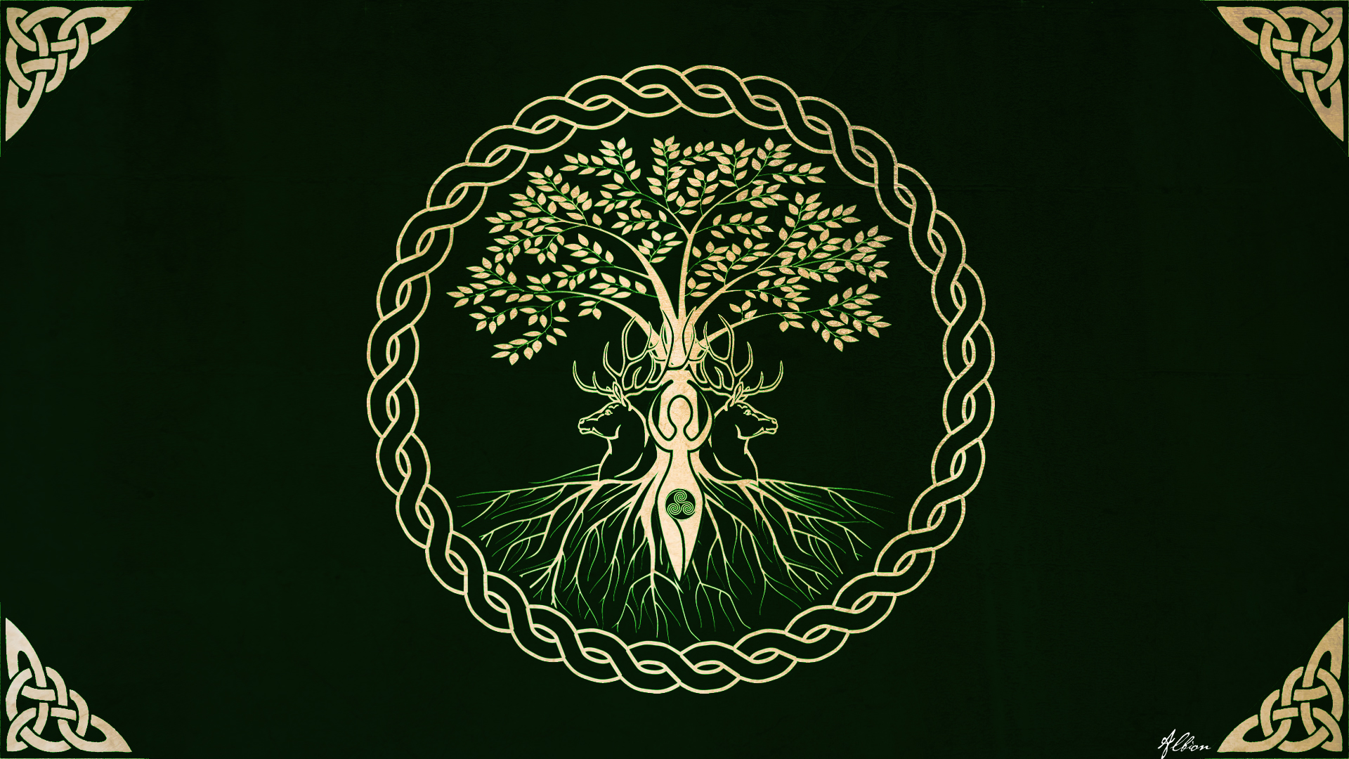 the tree wallpaper version by the pagan gallery on