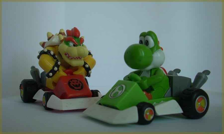 Bowser And Yoshi Kart by ras-blackfireYoshi And Bowser