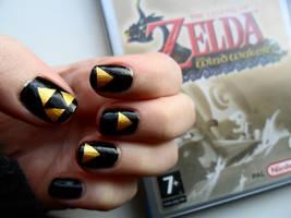 zelda nail art by ras-blackfire