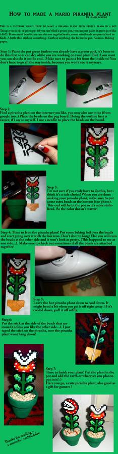 Piranha plant beads tutorial