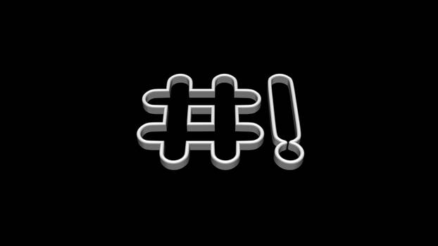 Crunchbang Black + White 3D