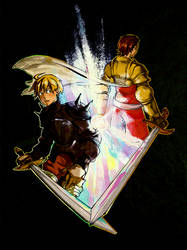 FFT: Ramza and Delita by monkey-hero