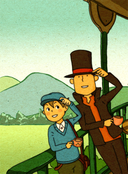 - Layton_and_Luke_by_monkey_hero